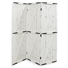 Barn Door  72in x 57in  Traditional White Distressed Wood Floor Screen with Metal Hardware