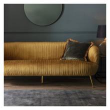 GA Valenza Sofa Gold Velvet