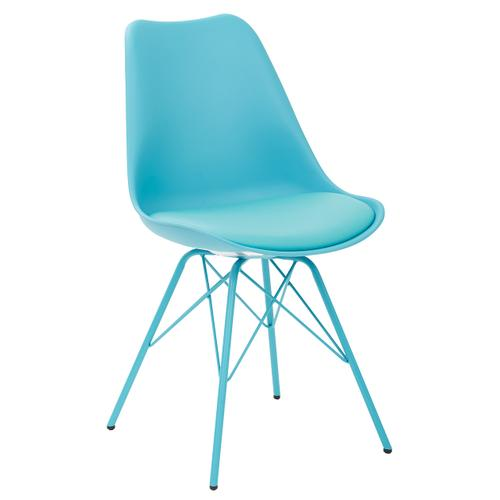 Office Star - Emerson Student Side Chair With 4 Leg Base In Teal Finish