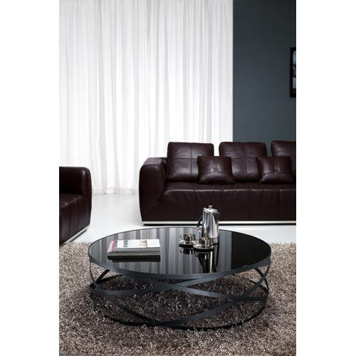Modrest Wixon Modern Black Round Coffee Table