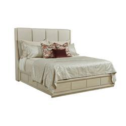 Siena Queen Upholstered Bed - Complete