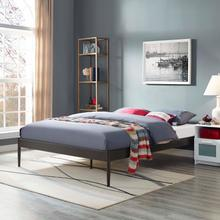 View Product - Elsie King Bed Frame in Brown