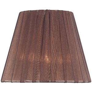"Candelabra Shade/burgundy Pleated - 3""tx6""bx5""sl"
