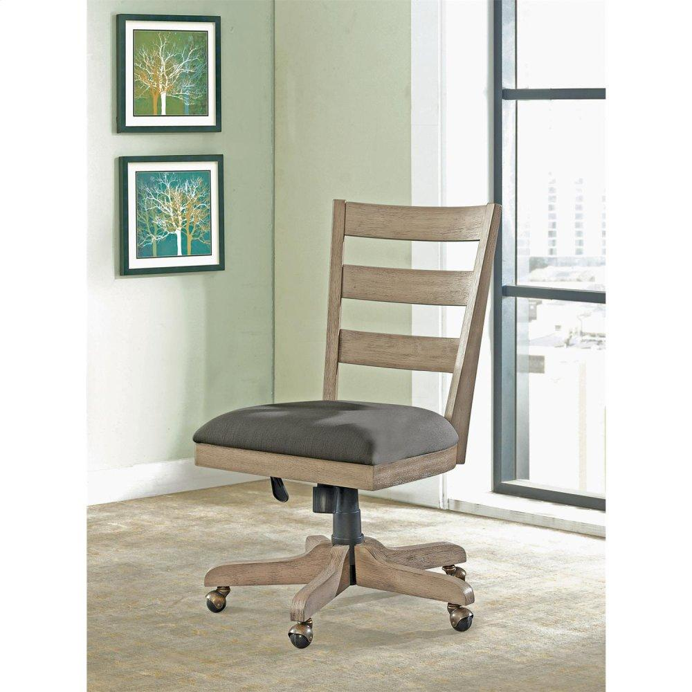 See Details - Perspectives - Wood Back Upholstered Desk Chair - Sun-drenched Acacia Finish