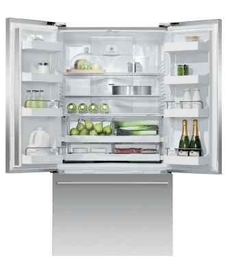 """Freestanding French Door Refrigerator Freezer, 36"""", 20.1 cu ft, Ice"""