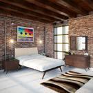 Tracy 5 Piece Queen Bedroom Set in Cappuccino Beige Product Image
