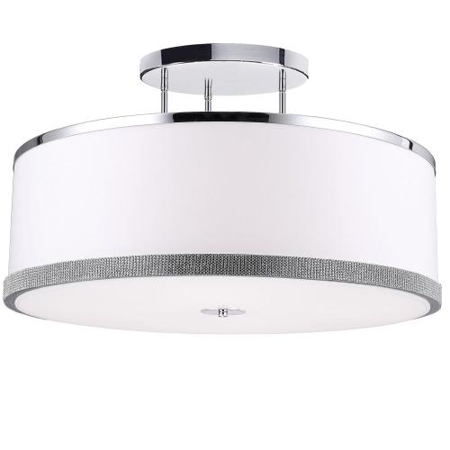 5lt Semi-flush, Polished Chrome Finish