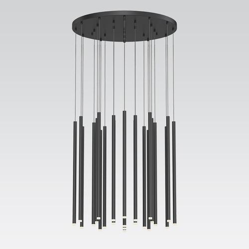 "Sonneman - A Way of Light - Light Chimes LED Pendant [Size=24-Light 24"", Color/Finish=Satin Black]"