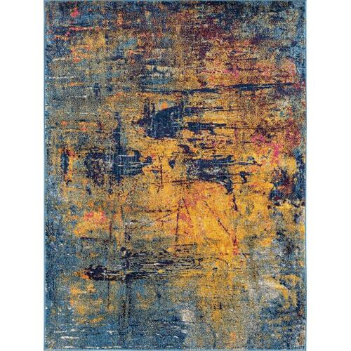 Amer Rugs - Manhattan Man-41 Orange Blue