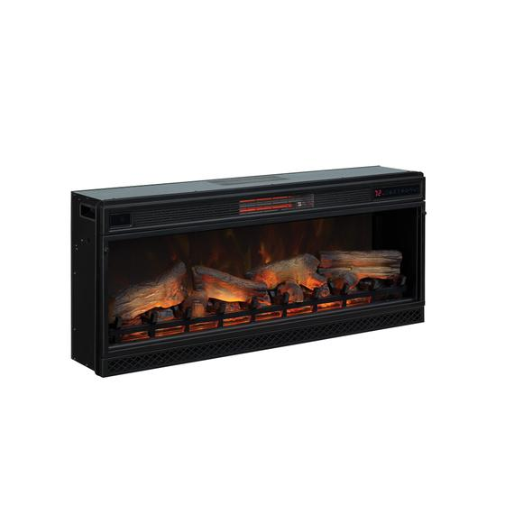 """Classic Flame - 42"""" 3D Infrared Quartz Electric Fireplace Insert with Safer Plug® and Safer Sensor™"""