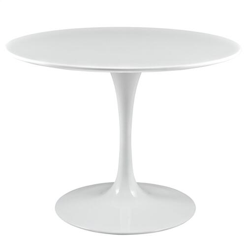 """Lippa 40"""" Round Wood Top Dining Table in White"""