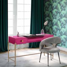 See Details - Bajo Pink Lacquer Desk