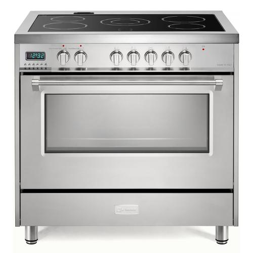 "Stainless Steel 36"" Designer Electric Range"