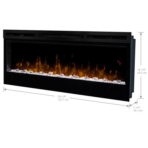 Dimplex - Prism Series Wall-Mounted Electric Fireplace with Acrylic Ember Bed