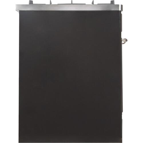 30 Inch Matte Graphite Dual Fuel Natural Gas Freestanding Range