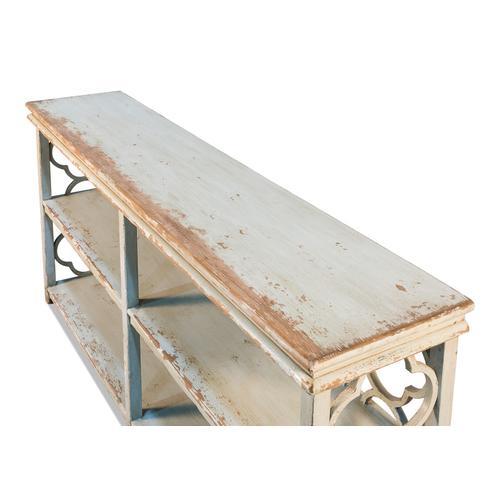 Quatrefoil Bookshelf Console Table