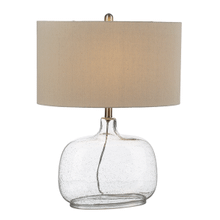 Clear Bubble Glass Table Lamp. 100W Max. 3 Way Swtich