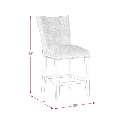 Francesca Blue Velvet Counter Height Chair Set