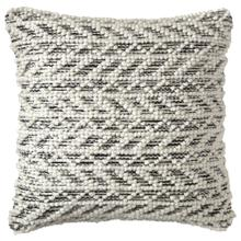 See Details - Retired Herringbone Berber Pillow, BLACK, 18X18
