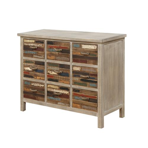 Emerald Home Furnishings - Emerald Home Pablo Pinewood Cabinet With 9 Multi-colored Drawers-ac313-09
