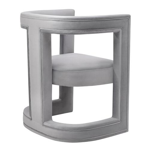 Ada Grey Velvet Chair