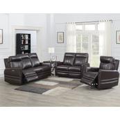 Coachella 3-Piece Dual Power Leather Reclining Set(Sofa, Loveseat & Chair)