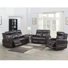 Coachella 3-Piece Dual Power Leather Reclining Set(Sofa, Loveseat & Chair)