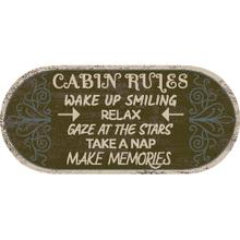 "Cozy Cabin Cabin Rules 20""x44"" Oval"