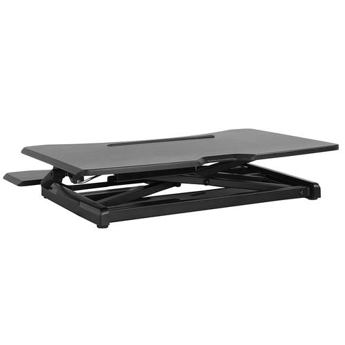 """HERCULES Series 30.25""""W Black Sit \/ Stand Height Adjustable Ergonomic Desk with Height Lock Feature"""