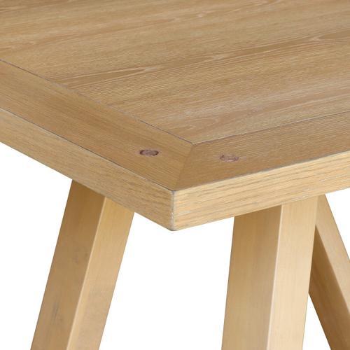 Farmhouse Trestle Style Dining Table - White Oak