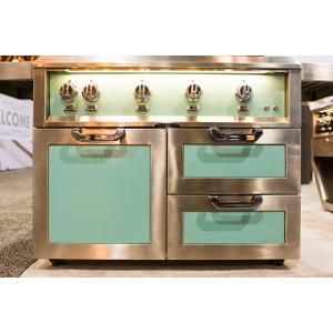 "42"" Hestan Outdoor Tower Cart with Door/Drawer Combo - GCR Series - Steeletto"