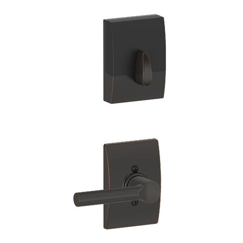 Schlage - Century Style Schlage Touch and Broadway Lever - Aged Bronze
