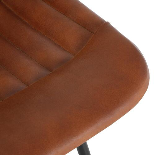 Garren Leather Bar Stool, Ale Brown