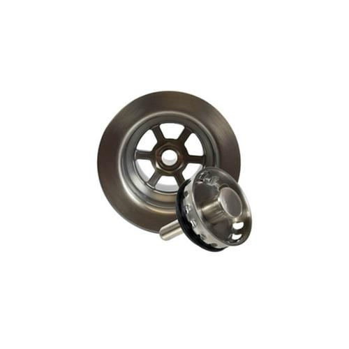"""2-1/2"""" Deluxe Stemball Bar Sink Strainer - Polished Nickel"""