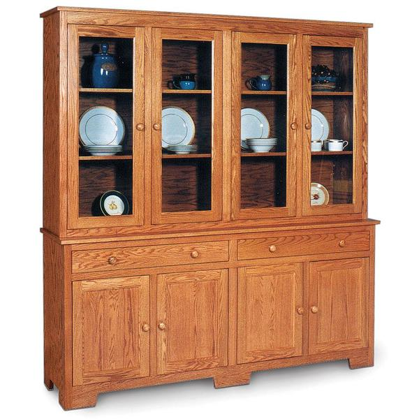 """See Details - Shaker Closed Hutch, 73 """", 19"""" Base"""
