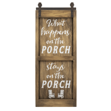 Wall Plaque - What happens on the Porch
