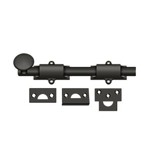 """Deltana - 8"""" Surface Bolt, HD - Oil-rubbed Bronze"""