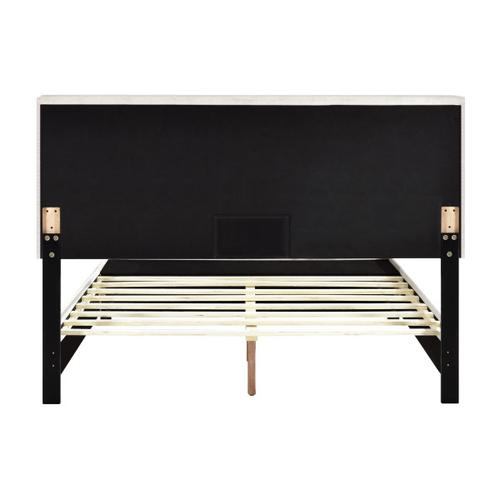 Accentrics Home - Queen Nail Trim Storage Bed in Fog