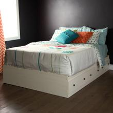 Mate's Platform Storage Bed with 3 Drawers - White Wash