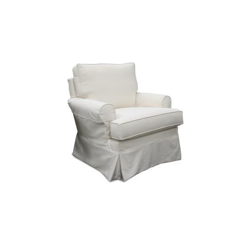 Capris Furniture - 126 Slip Cover Swivel Glider