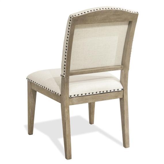 Riverside - Myra - Upholstered Side Chair - Natural Finish