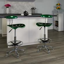 View Product - Vibrant Green and Chrome Drafting Stool with Tractor Seat