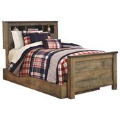 Trinell Twin Bookcase Bed With 1 Large Storage Drawer
