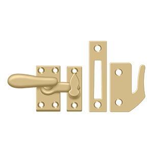 Deltana - Window Lock, Casement Fastener, Medium - Brushed Brass