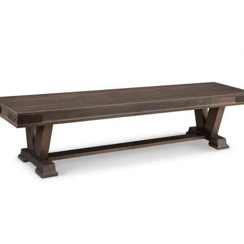 """- Chattanooga 72"""" Pedestal Bench with Wood Seat"""