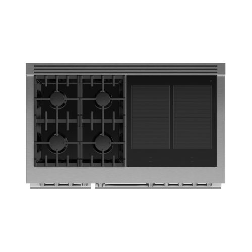 """Gallery - Dual Fuel Range, 48"""", 4 Burners, 4 Induction Zones, Self-cleaning"""