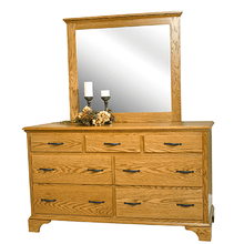 Brook Stone Dresser With Flat Top Mirror