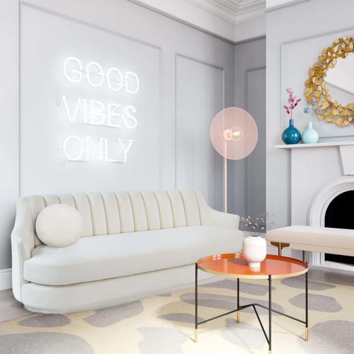 Tov Furniture - Peyton Cream Velvet Sofa
