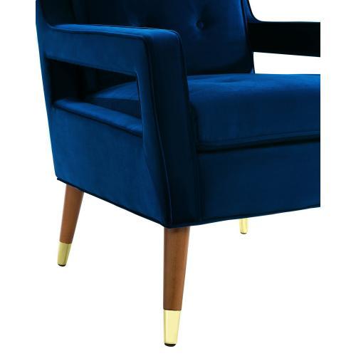 Draper Navy Velvet Chair