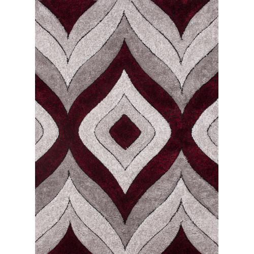 Sorrento 721 Shag Area Rug by Rug Factory Plus - 2' x 3' / Red
